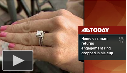 Homeless Man Returns Ring-Click to Play