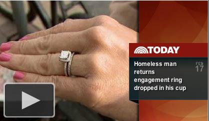 Homeless Man Returns Ring-Click to Play